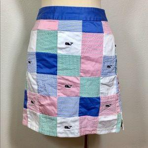 Vineyard Vines Patch Skirt Pink blue sz. 2
